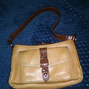 Tommy Hilfiger Tan Mini Handbag Satchel, excellent